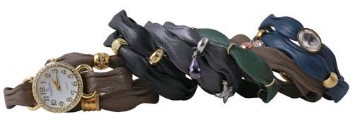 armbånd med læder i bølgefacon