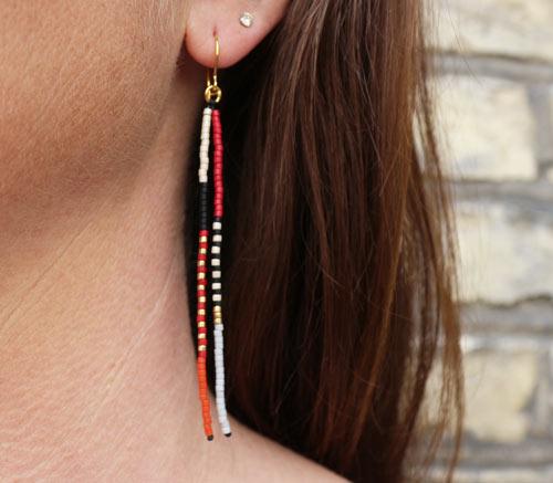 delica øreringe med frynser