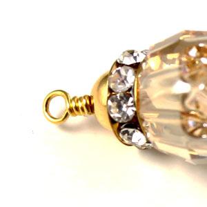 afslutning på øreringe med swarovski krystal