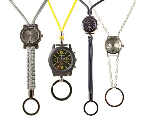 Nøglekæde med ur