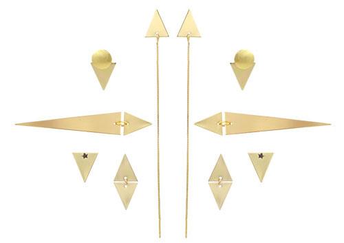 smykker med trekantede vedhæng
