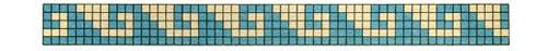 mønster til diy vævet armbånd med delica perler