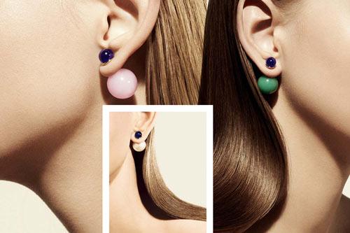 eksempler på dior øreringe med forskellige farver