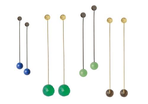 Øreringe med stav og perler