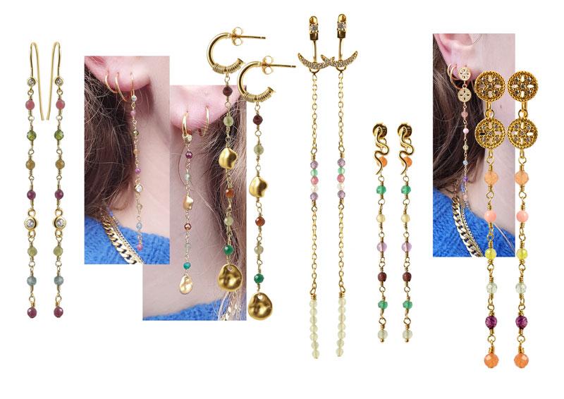 diy øreringe med kæder af perle links