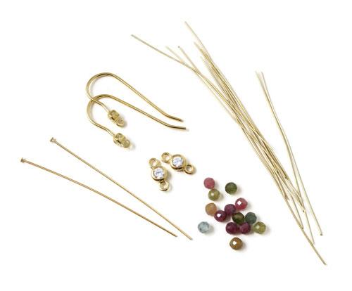 materialer til øreringe med links