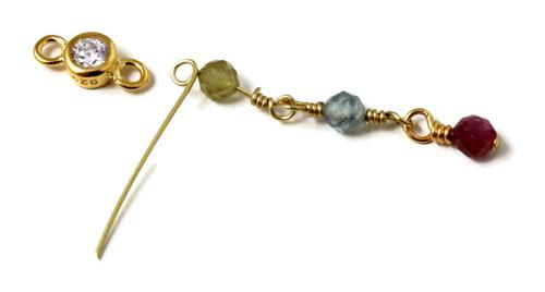 kæde med perler og links
