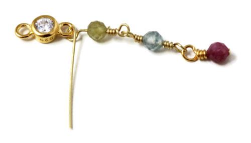 kæde af perler og links