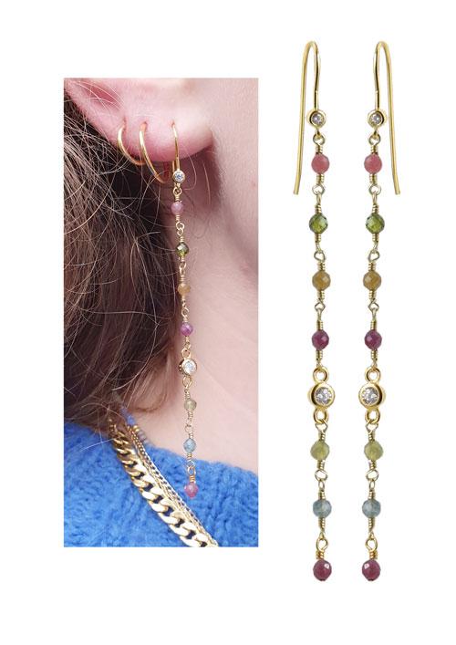 ørering med links og krystal