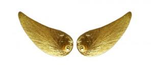 ørestiks med forgyldte vinger