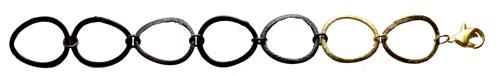 armbånd med ovale ringe