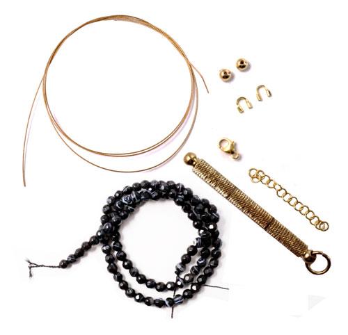 Materialer til armbånd med agat på wire