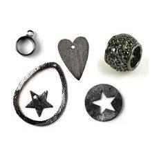 Black silver & gunmetal