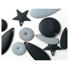 Matte/frosted enamelled pendants