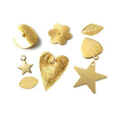 Gilded jewellery parts