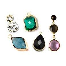 Glass & crystal charms