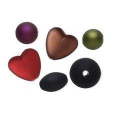 Gummibelagte perler