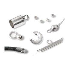 Endedupper & wireklemmer sølv