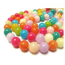 Jade beads (candy jade)