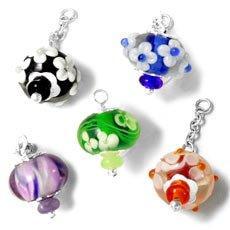 Italian glass charms