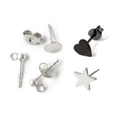 Earstuds - silver/silver plated