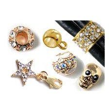 Perlen-Charms vergoldet