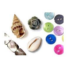 Perlmutt-Perlen & Muscheln