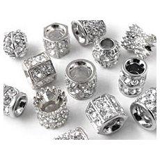 Perler & led, sølv & sort
