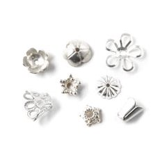 Silver-plated bead caps
