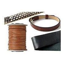 Ruskind og læderbånd