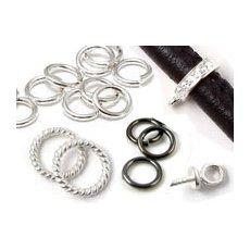 Silver, plated & black jumprings