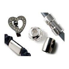 Stahlperlen metallisch & schwarz