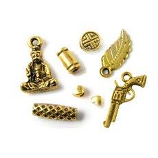 Tibet. Messing/antik guld
