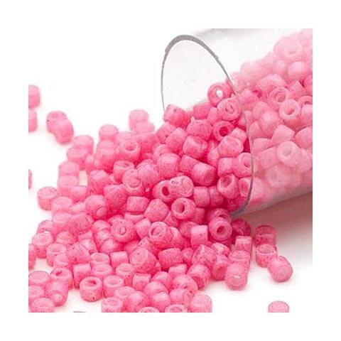 Delica, Größe#11, rosa, opak, 1,1x1,7 mm, 5,2g