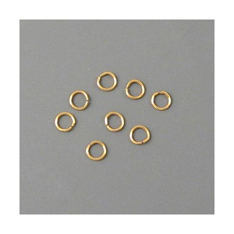 Ösen, vergoldetes Messing, 4x0,7 mm, 20 Stk.