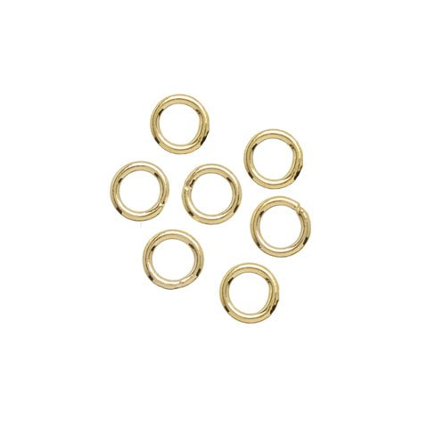 Ösen, vergoldetes Silber, geschlossener Ring, 4x0,7 mm, 10 Stk