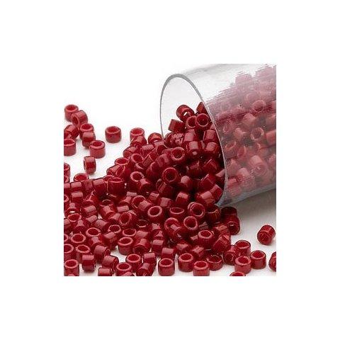 Delica, glänzend bordeaux rot, opak, 1,1x1,7 mm, 5,2 g ca. 1000 Perlen