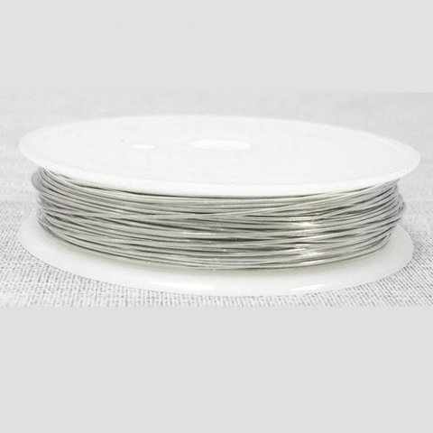 Silver-plated copper wire on flat spool, 0.5mm, 9.5 meter
